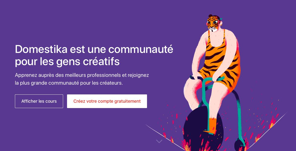 Domestika - Site Web